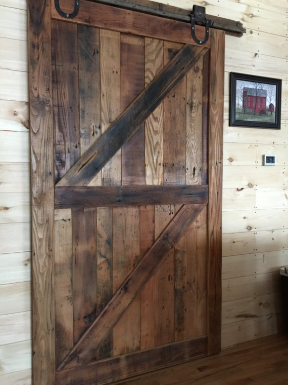 Reclaimed Wood Sliding Barn Door - 50 Trendy Reclaimed Wood Furniture And Decor Ideas For Living