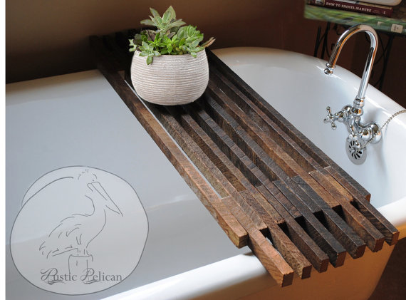 Reclaimed Wood Tub Caddy
