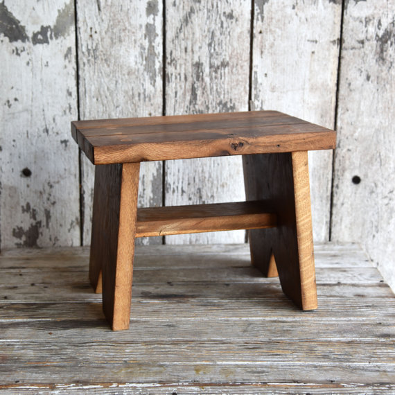 Reclaimed Wood Step Stool