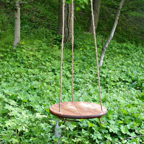 Reclaimed Wood Tree Rope Swing