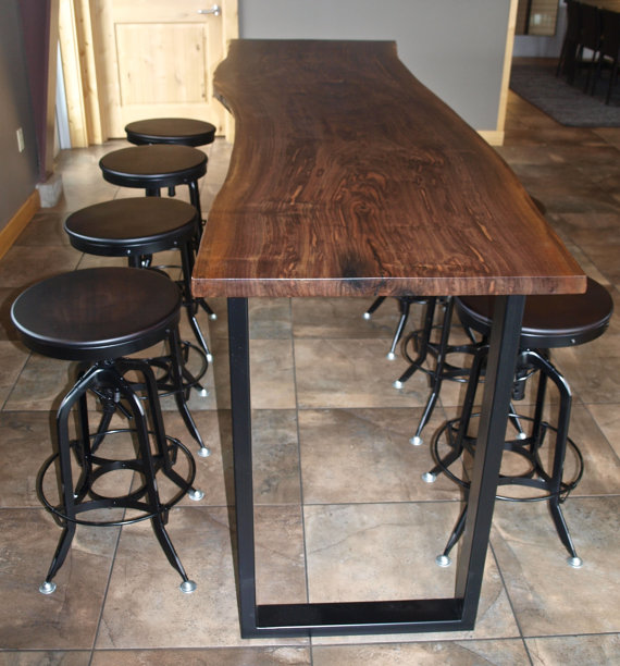 Reclaimed Wood Bar Table