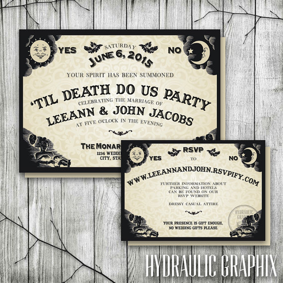 Ouija Board Wedding Invitation & RSVP