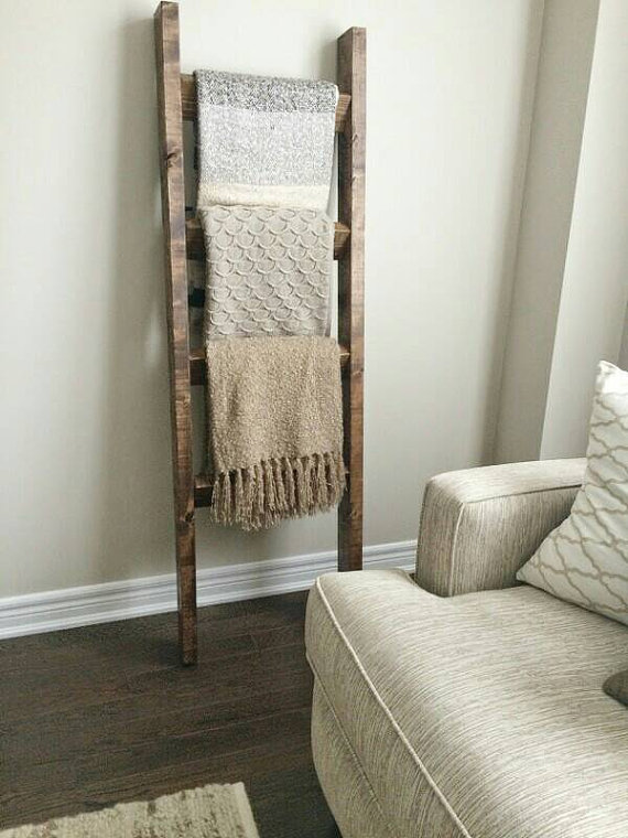 Incroyable Reclaimed Wood Blanket Ladder