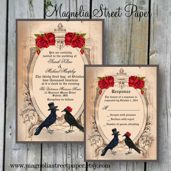 spooktacular halloween wedding invitations | glitter 'n spice, Wedding invitations
