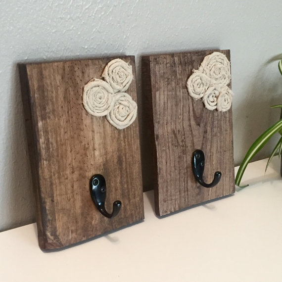 Reclaimed Wood Towel Hooks
