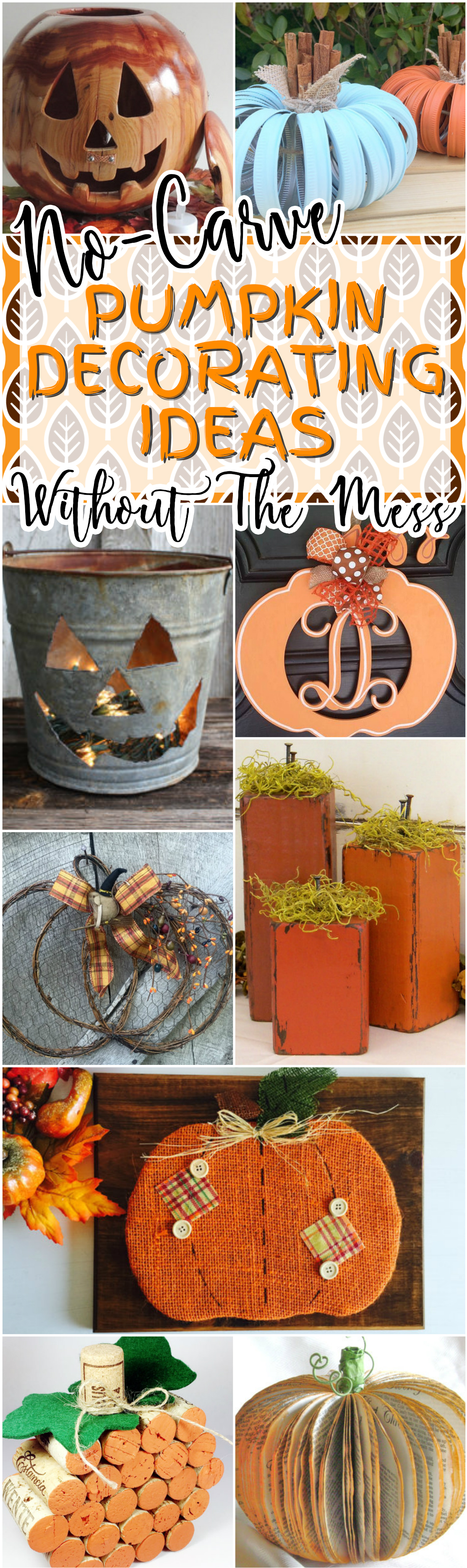 23 Adorable Pumpkin Decorating Ideas Without Carving And ...