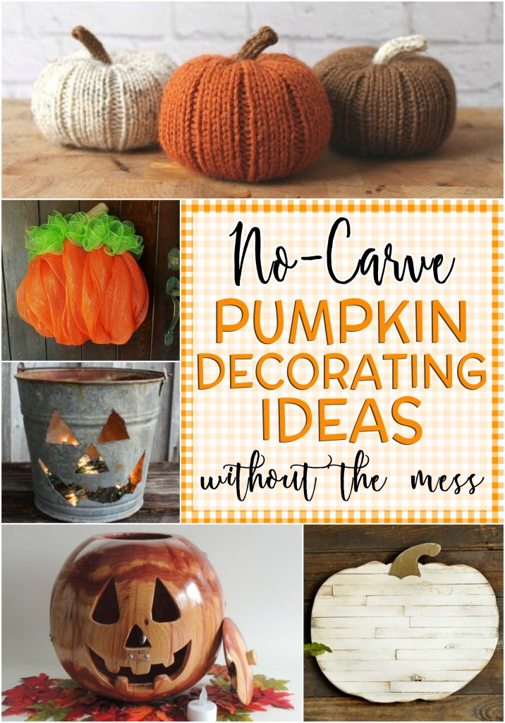 23 adorable pumpkin decorating ideas without carving and the mess glitter 39 n 39 spice - Attractive kid halloween decorating design ideas with various spiderman pumpkin carving ...
