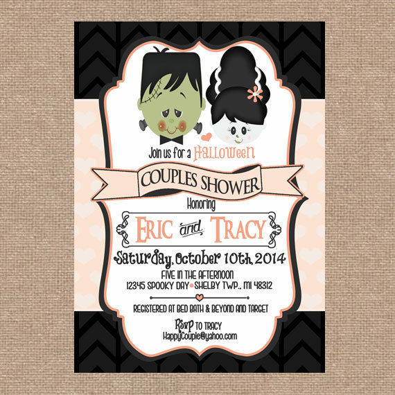 Frankenstein Couples Shower Invitation