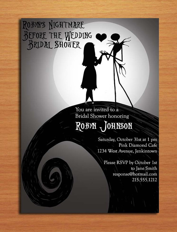 Nightmare Before Christmas Bridal Shower Invitation