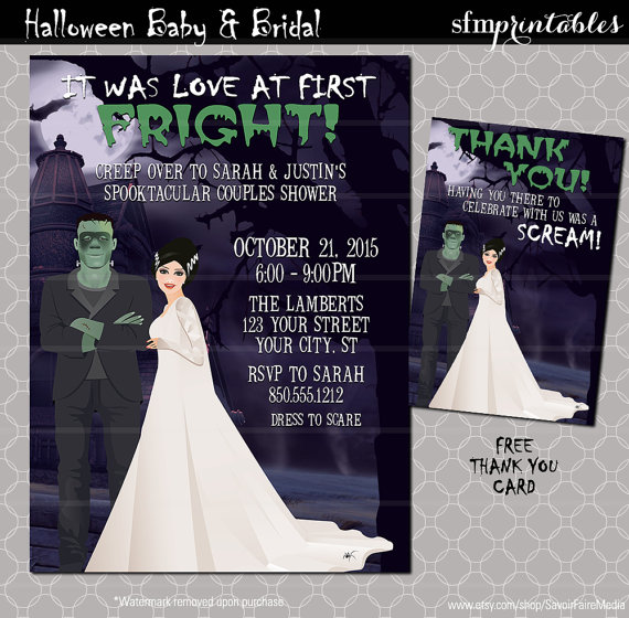Halloween Couples Shower Invitation