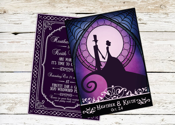 Tim Burton Inspired Wedding Invitation