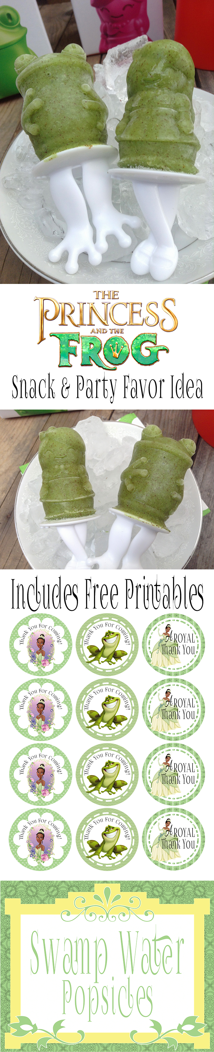 Princess And The Frog Birthday Party Snack And Party Favor Idea | Includes Free Printables