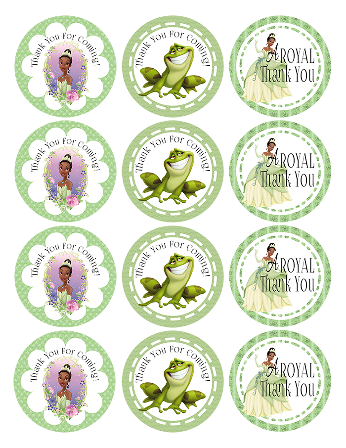 The Princess And The Frog Printable Thank You Tags