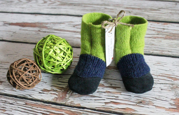 Felted Wool Slipper Boots