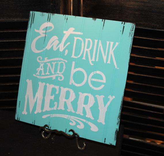 Eat, Drink And Be Merry Beach Christmas Sign