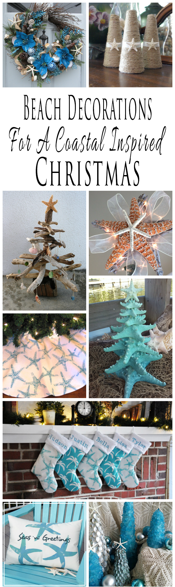 Handmade Beach Themed Christmas Decorations For A Coastal Inspired Christmas Glitter N Spice