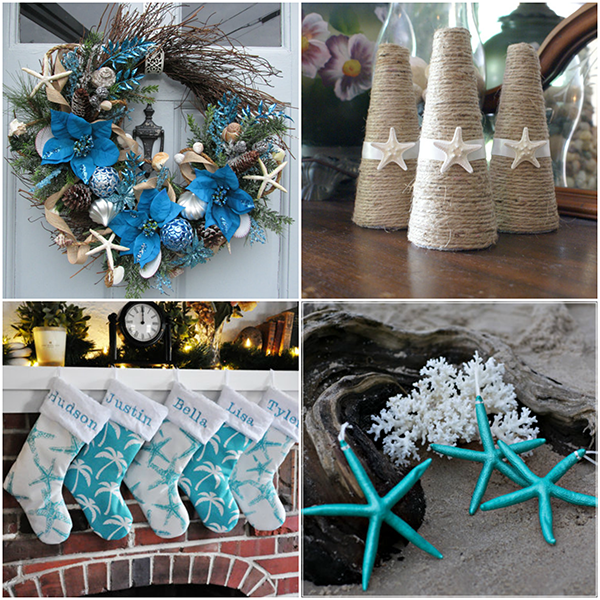 beach themed christmas decorations - Beach Christmas Decorating Ideas