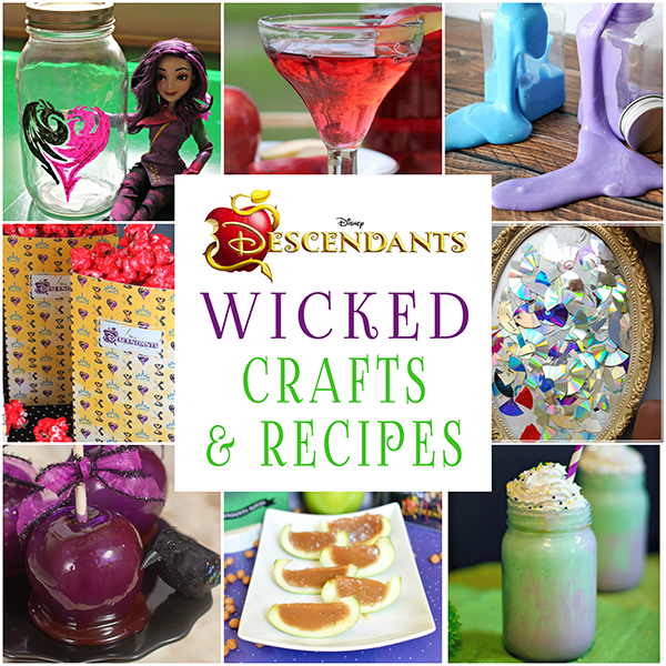 25 Wicked Disney Descendants Crafts And Recipes O Glitter N Spice