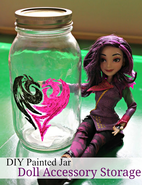 Disney Descendants Painted Jar Craft