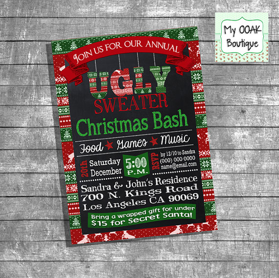 Ugly Sweater Christmas Bash Invitation