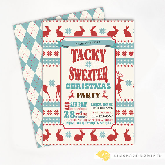 Ugly Sweater Party Invitation is an amazing ideas you had to choose for invitation design