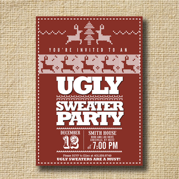 Ugly Christmas Sweater Party Invitations Free was awesome invitation example