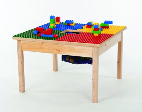 Wooden LEGO Play Table