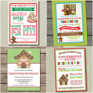 Printables archives glitter 39 n 39 spice Gingerbread house decorating party invitations