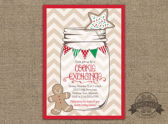 Christmas Cookie Exchange Invitation