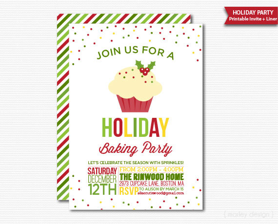 Holiday Baking Party Invitation