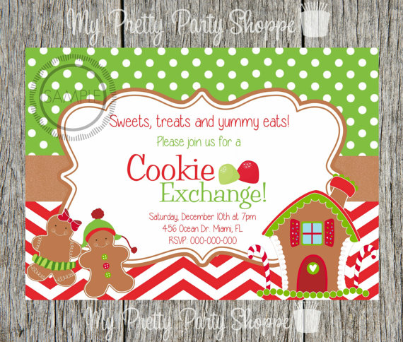 15 Christmas Cookie Exchange Party Invitations Glitter N Spice