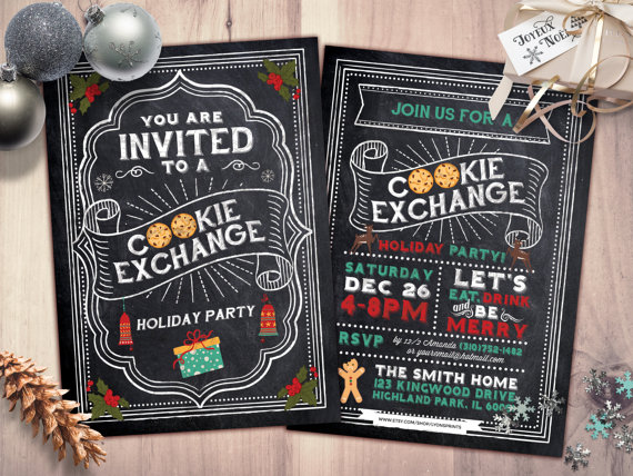 Holiday Cookie Swap Invite