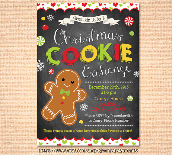 Christmas Cookie Exchange Invite