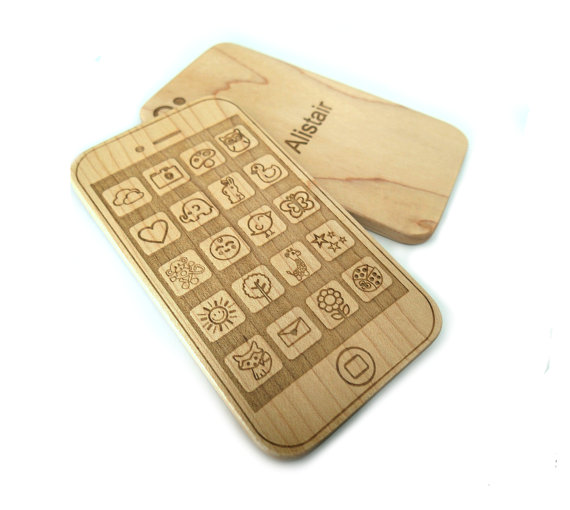 Phone Wooden Teether