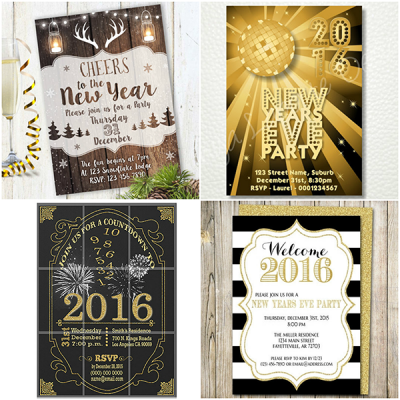 2016 New Years Eve Party Invitations