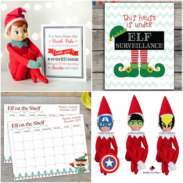40 Fun & Creative Christmas Elf On The Shelf Printables