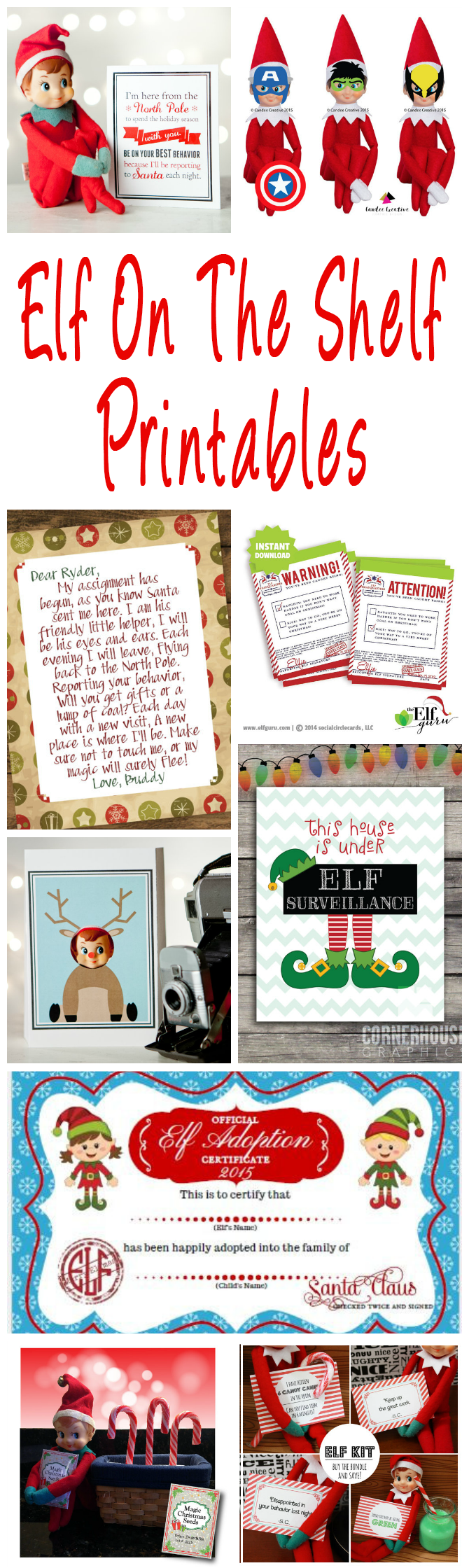 Fun  Creative Christmas Elf On The Shelf Printables  Glitter N