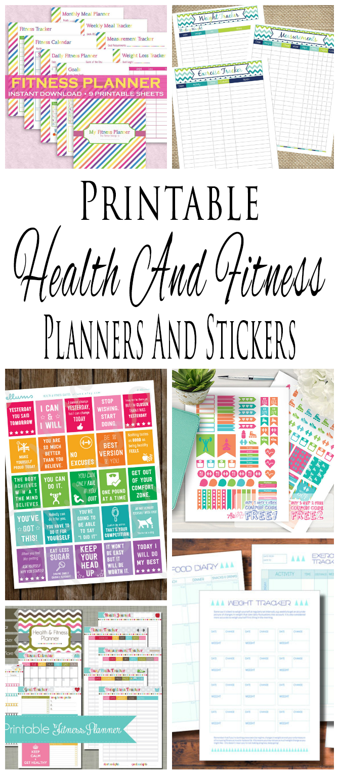 picture regarding Fitness Planner Printable identify Printable Exercise And Physical fitness Planners And Printable Planner