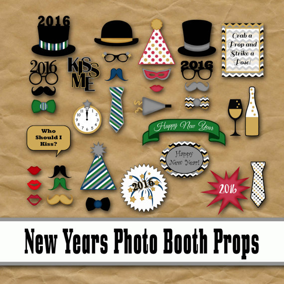 2016 New Years Eve Photo Booth Props | Glitter 'N Spice