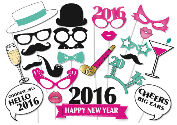 2016 new years eve photo booth props glitter n spice 2016 new years photo booth props pronofoot35fo Image collections