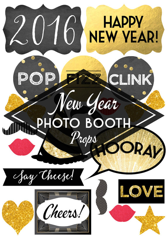 2016 new years eve photo booth props glitter n spice printable diy new years eve photo booth props pronofoot35fo Images