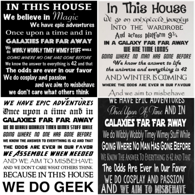 In This House We Do Geek Signs And Wall Decals