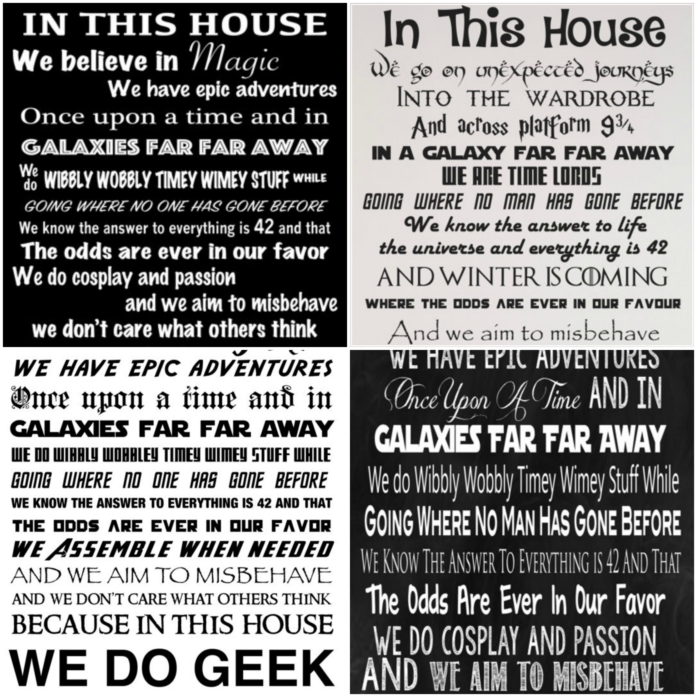 In This House We Do Geek Signs And Wall Decals Glitter