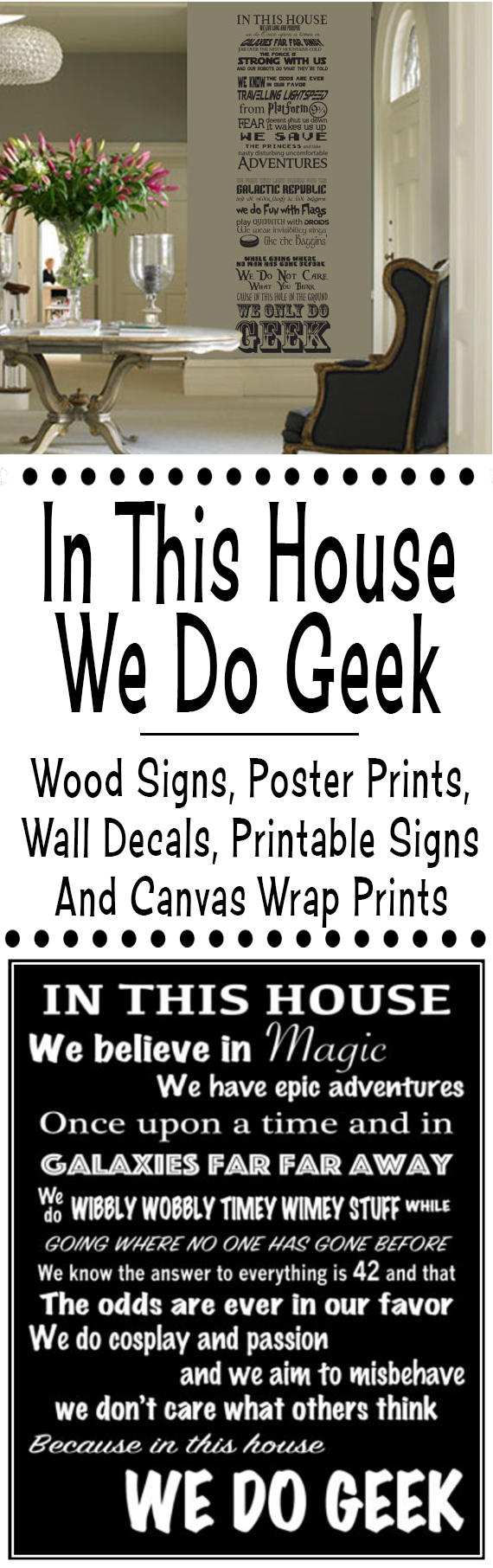 In This House We Do Geek Wood Signs, Photo Prints, Wall Decals, Printable Signs And Canvas Wrap Prints