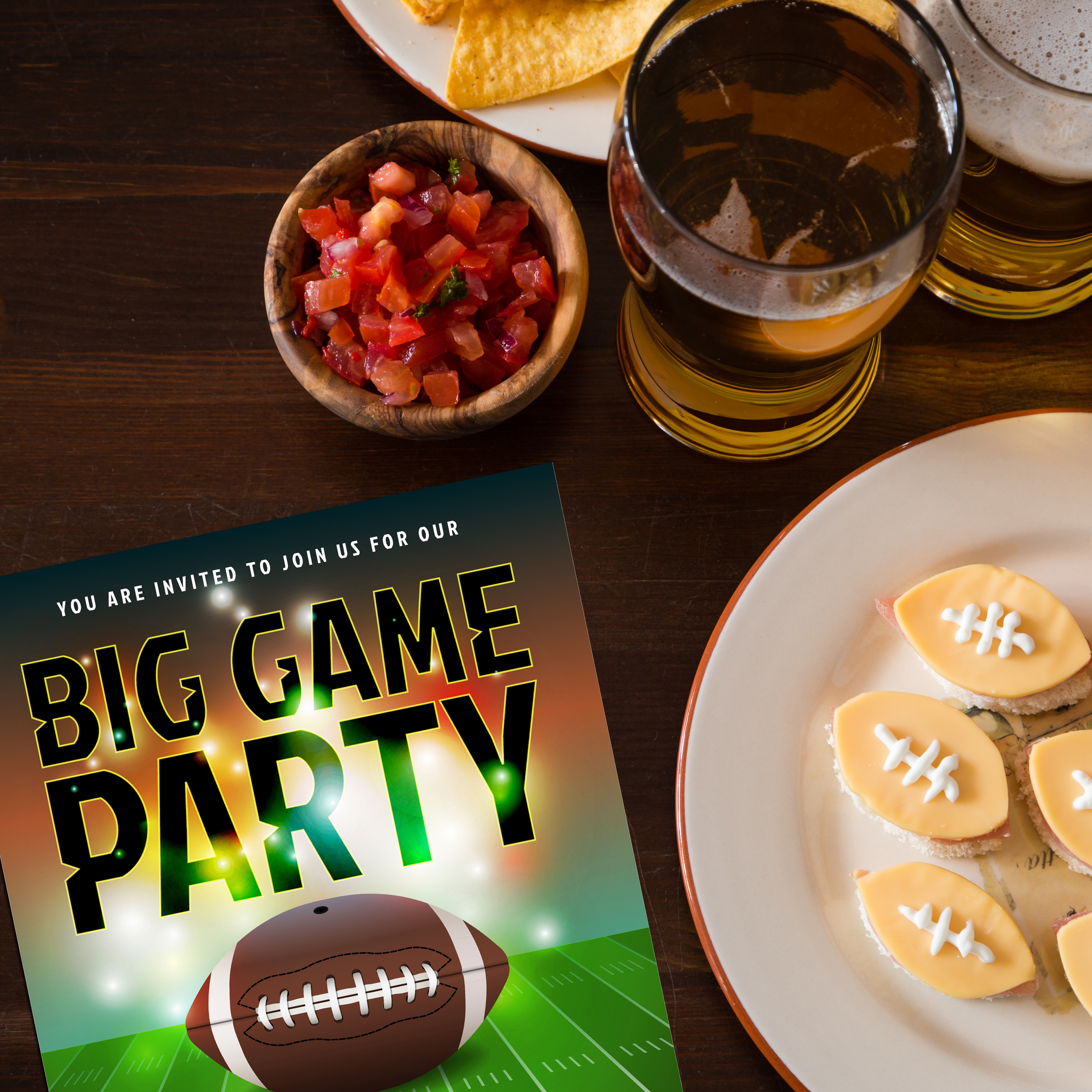 Printable Football Party Invitations For Adult, Kid & Family Parties