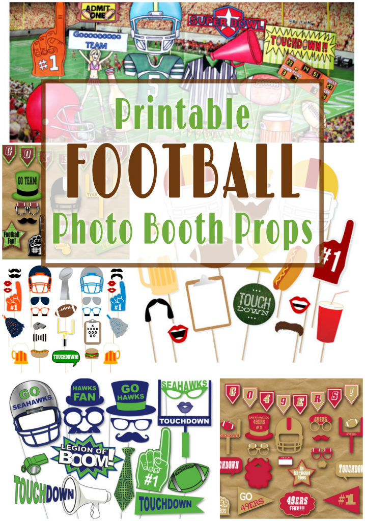 Printable Football Photo Booth Props