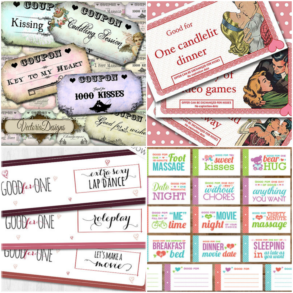 Romantic And Naughty Printable Love Coupons For Boyfriend Or Husband