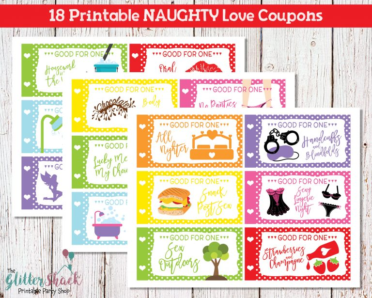 Romantic And Naughty Printable Love Coupons For Him