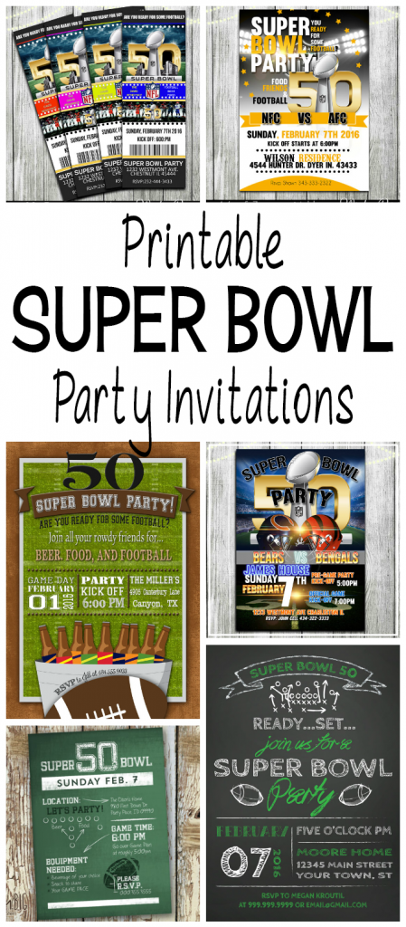 Super Bowl 50 Football Party Invitations