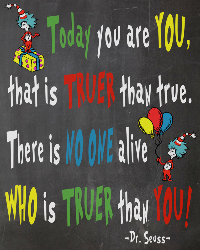 graphic relating to Free Printable Dr Seuss Quotes titled No cost Dr. Seuss Printables For Decorating A Clroom Or